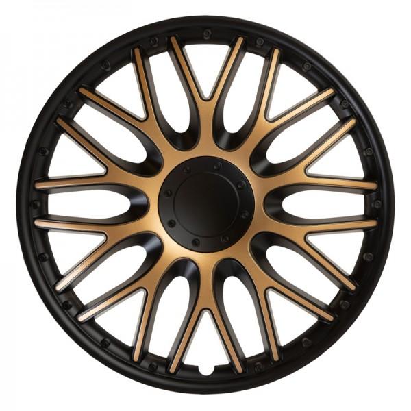 J-Tec 4-Delige Wieldoppenset Orden 14-inch zwart/goud