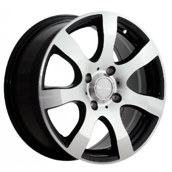 Tomason TN 3 Velgen zwart / gepolijst 7 x 16inch