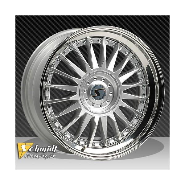 Schmidt CC Line Velgen (Rad-Inox) 3dlg zilver 8,5 - 9,5x21