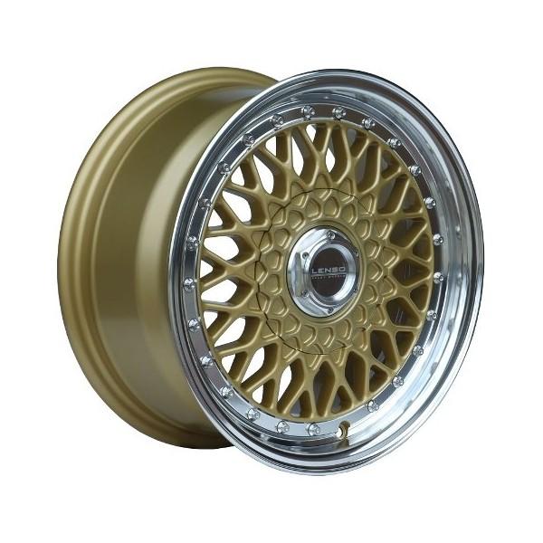 Lenso Wheels BSX 7x15 gold 4x100 ET38 Velgen