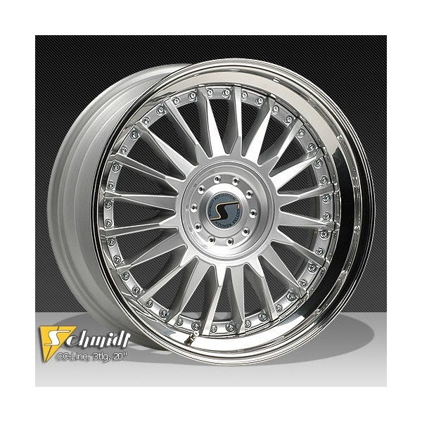 Schmidt CC Line Velgen (Rad-Inox) 3dlg zilver 8,5 - 9x20