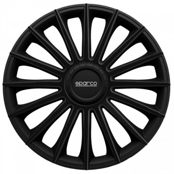 4-Delige Sparco Wieldoppenset Torino 15-inch zwart