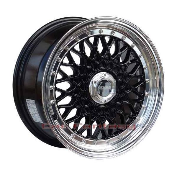 Lenso Wheels BSX 7x15 zwart 4x100 ET38 Velgen