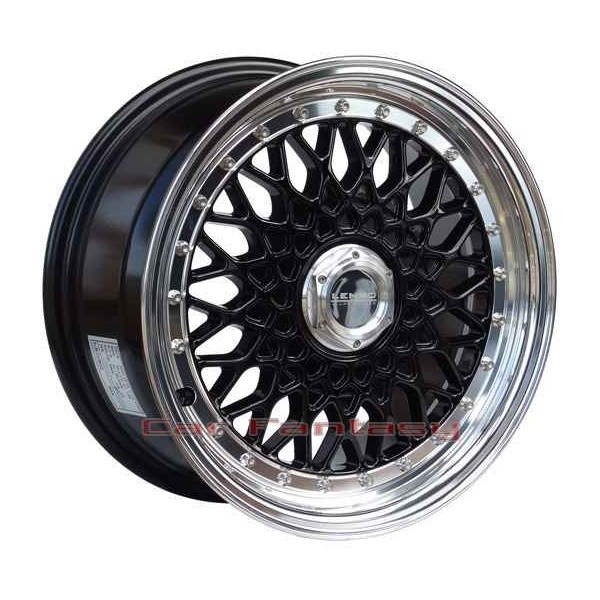 Lenso Wheels BSX 7,5x16 zwart 4x100 ET38 Velgen